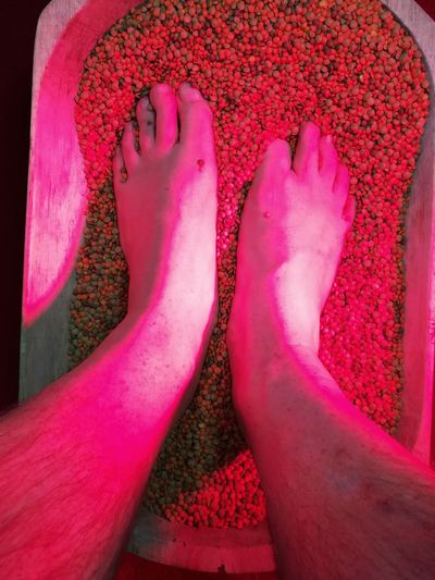 Low Section Human Body Part Human Foot Human Leg Pink Color One Person Barefoot Adult Close-up Lenses Feedbath Bath Polyneural Nerves Redlight Adults Only People Polyneuropathie Neuropathy