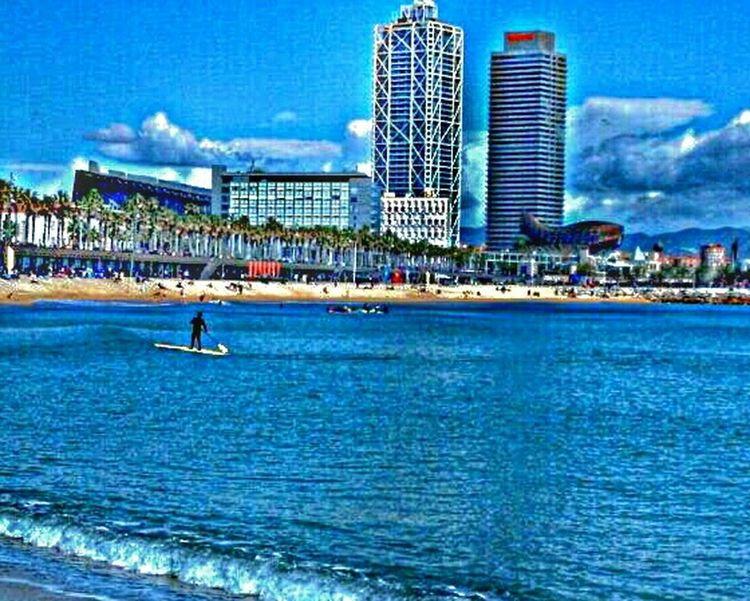 Happy Sunday!! Relaxing Barcelona♡♥♡♥♡ Landscape Beach Life