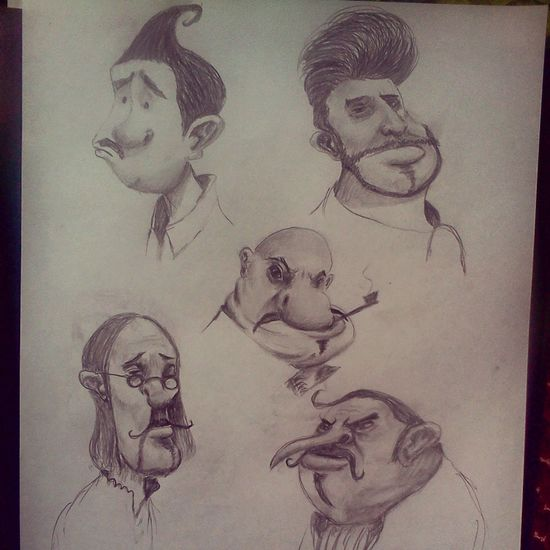 Drawing Caricature Art Charcoal