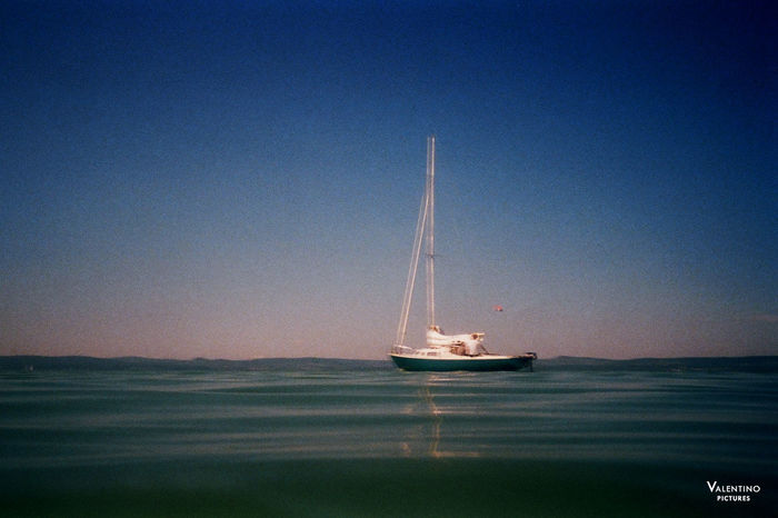 #analog #boat #grainy #hungary #impressionistphotography #kodakfilm #lakebalaton #moody #motion #photography #summer #summer2016 Clear Sky Nature Nautical Vessel Night No People Outdoors Sea Sky Water