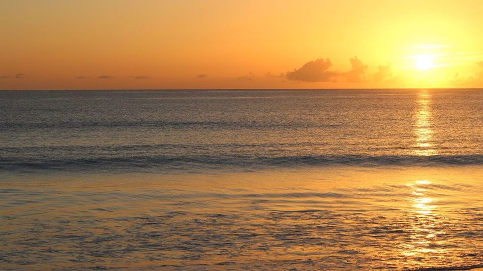 Sunset Sea Scenics Nature Water Orange Color Sky Horizon Over Water Sunlight Sun Outdoors Nofilter Idyllic Beach Beauty In Nature Photography Nature Photography Day Morning Sunrise Beautiful Beauty In Nature Beautiful Nature Beachphotography Photooftheday