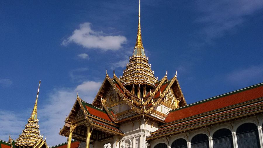 Low Angle View Of Grand Palace Against Sky
