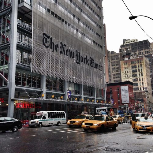 New York The New York Times NYC Manhattan Architecture Iconic Yellow Taxi Yellow Cabs Taxi Cab Battle Of The Cities