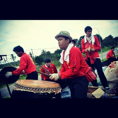 Drum Beats for the Lion's Feats GongXiFaCai2013 Brunei Andrography InstaBruDroid