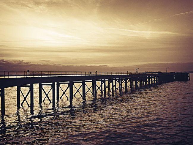 Learn & Shoot: Leading Lines Pier Golden Hour Sunset Scotland