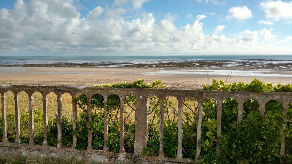 Sea Beach Horizon Over Water Cloud - Sky Sky Day Outdoors Tranquility Water Scenics No People Travel Destinations Nature Sand Beauty In Nature Growth Panoramic Bridge Normandie France Barneville Carteret Sunset Flower Ebb Tide