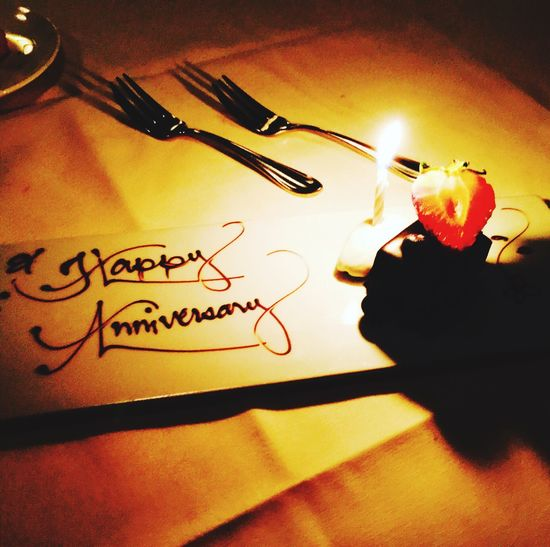 'Happy Anniversary' photo by Kristina Sablan. Cupertino CA. Love ♥ Nightlife Indoors  Flame No People Anniversary Romance Night Candle Light EyeEmNewHere Place Of Heart