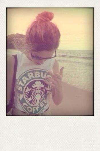 Starbucks Hipster Beautiful Girl My Fav♡