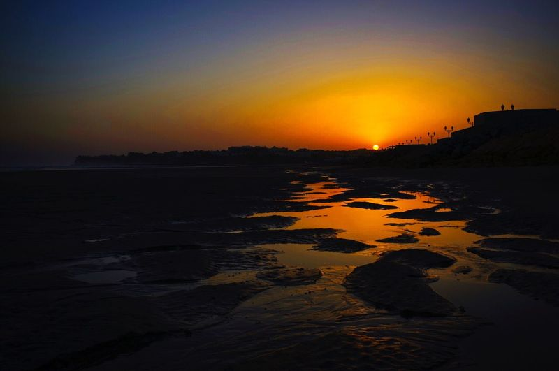 Golden Hour Sunset Orange Color Scenics Beauty In Nature Sea Sun Silhouette Nature Tranquil Scene Tranquility Sky No People Outdoors Beach Water Travel Destinations Horizon Over Water Wave Visit Oman Beach Life