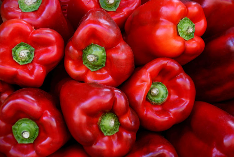 Red Vegetable Food And Drink Pepper Food Healthy Eating Large Group Of Objects Red Bell Pepper Bell Pepper Wellbeing Freshness Backgrounds Full Frame Abundance Close-up Market Still Life Spice Ripe Paprika Retail