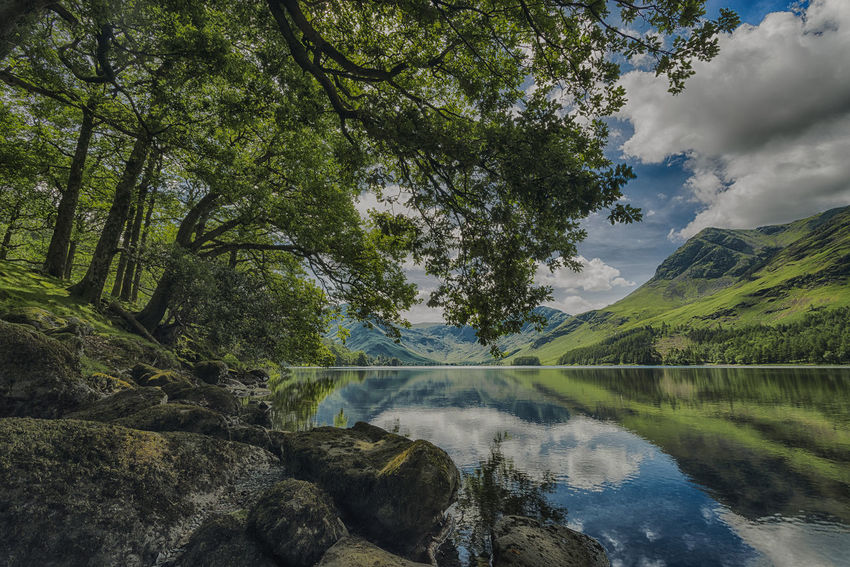 Buttermere Tranquility Landscape_Collection Beauty In Nature Day Green Color Growth Lake Landscape Landscape_photography Landscapes Malephotographerofthemonth Mountain Nature No People Outdoors Reflection Scenics Sky Tranquil Scene Tranquility Tree Water Waterfront