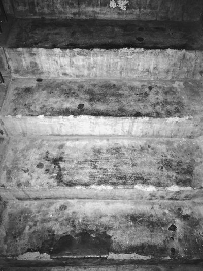 Run-down IPhoneography Blackandwhite No People Steps Stairs Concrete Concrete Steps Bleak Going Up