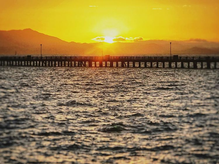 Beauty In Nature SUNSET AT THE BERKELEY MARINA, BERKELEY,CA Sea SAN FRANCISCO BAY!!. Horizon Over Water EyeEmNewHere