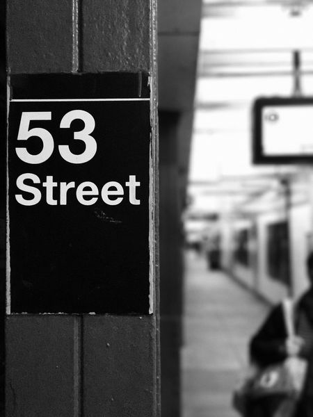 NYC subway IPhone7Plus IPhone Photography IPhoneography Subway Sign Train Station Blackandwhite Mta Subway Text Communication No People Close-up Day Indoors