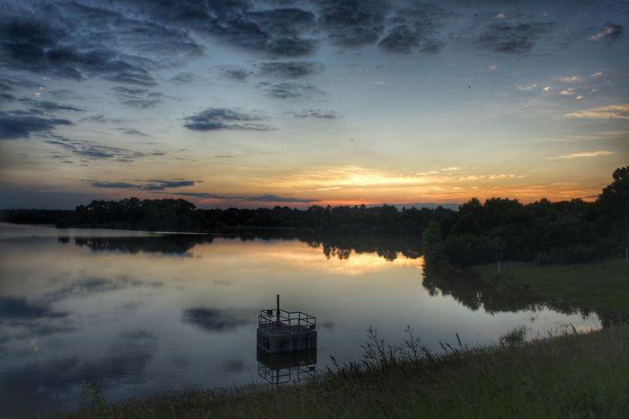Sunset Nebraska Sky Sunset Cloud - Sky Water Scenics - Nature Tranquility Reflection Lake Dusk Reflection Lake Outdoors