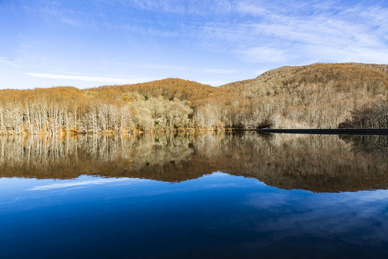 Sante Fe del Montseny Santa Fe Montseny Reflection Water Sky Tranquility Tranquil Scene Lake Scenics - Nature Beauty In Nature Cloud - Sky No People Day Nature Non-urban Scene Mountain Waterfront Tree Plant Blue Landscape Outdoors