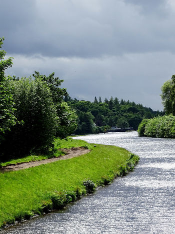 Cloud - Sky Nature Tranquility Beauty In Nature Landscape Scenics Water River Tranquil Scene Scotland EyeEm Gallery EyeEm Best Shots Caledonian Canal