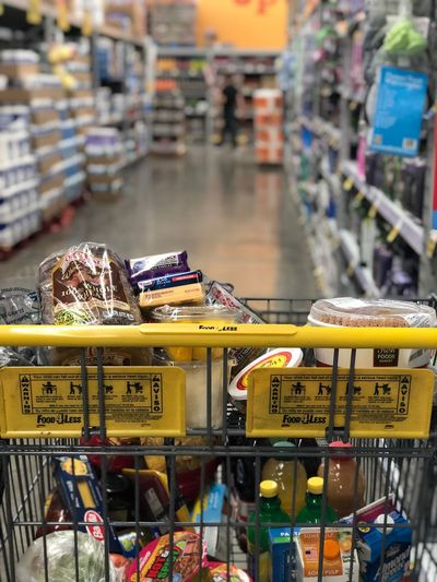 Adulting Grocery Shopping Shopping Cart Food Focus On Foreground Market