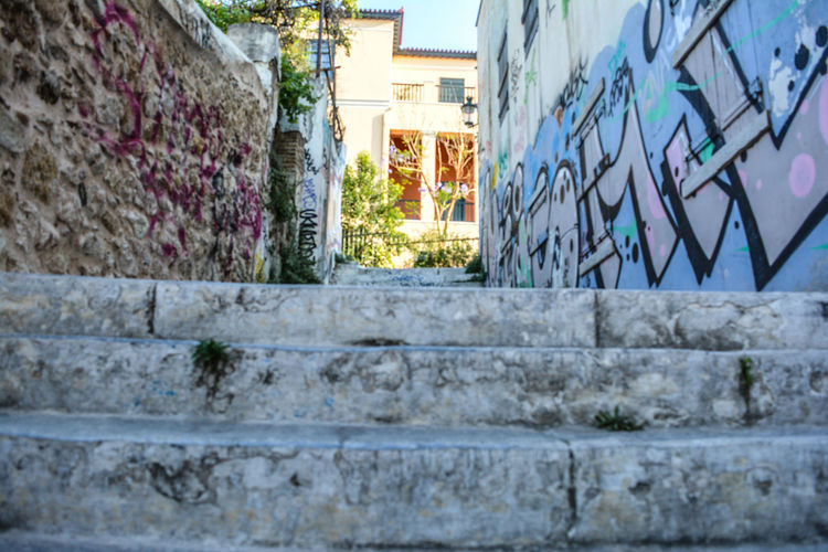 Athens Ancient Culture Outdoors Day The Way Forward Brick Wall Steps Architecture Built Structure Photo Sun Travel Photography Ancient Greek