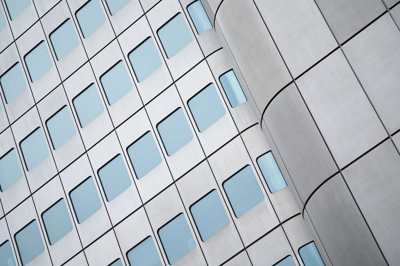 Façade Architecture Building Exterior Built Structure Low Angle View Modern Pattern Repetition Window