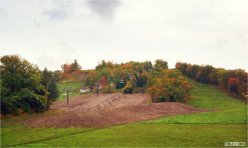 New Halfpipe at Blue Mountain Winterwarrior Fall2014