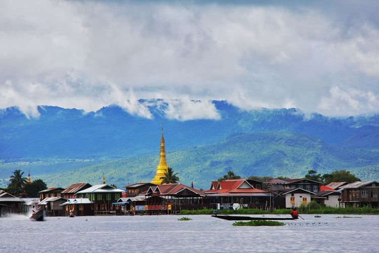 Inle Lake Mountain Snow Place Of Worship Winter Cold Temperature Religion Tradition Arts Culture And Entertainment History Sky Pagoda Stupa Myanmar Myanmar Culture Buddhist Temple Ancient Pavilion