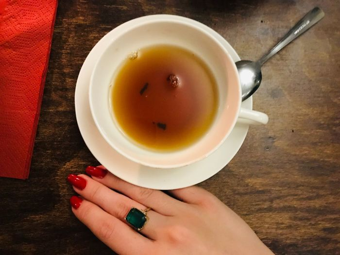 Detail Hand Porcelain  Tea Cup Tea Cup Food And Drink Human Hand Refreshment Mug Drink Hand Nail Autumn Mood