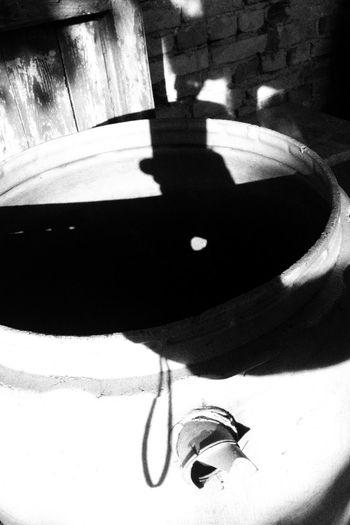 Blackandwhite Black & White Abstract Abstract Photography High Angle View Hole Of Light Rostock Backyardphotography