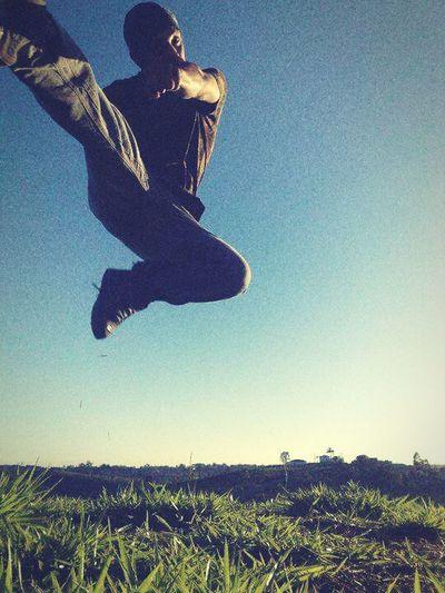 Nature and Flying Kick Jumping Sky Nature Photography Martialart First Eyeem Photo