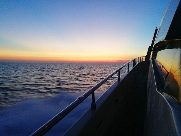 Boat life, 📍 Montenegro Sea Sunset Horizon Over Water Day Montenegro Sealife Boat Boating Boatlife Nature Light Sunsetporn Love Friends