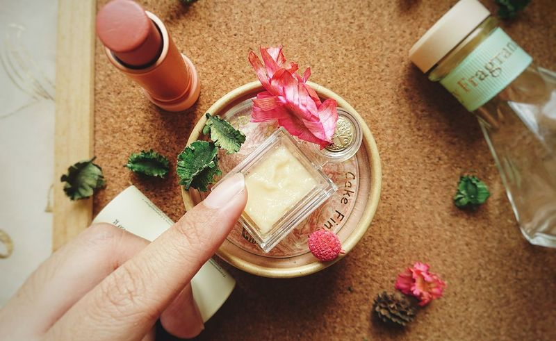 beauty time. High Angle View Human Hand Human Body Part Indoors  Close-up One Woman Only Full Frame Beauty Spa Beauty Product Lip Scrub Lipstick Lipgloss Lipbalm Lip Treatment