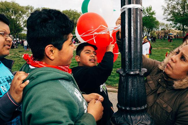 Kids playing during a Cinco de Mayo Celebration. #EyeEmNewHere Balloon Brook Cinco De Mayo EyeEmNewHere Kids New York Streetphotography