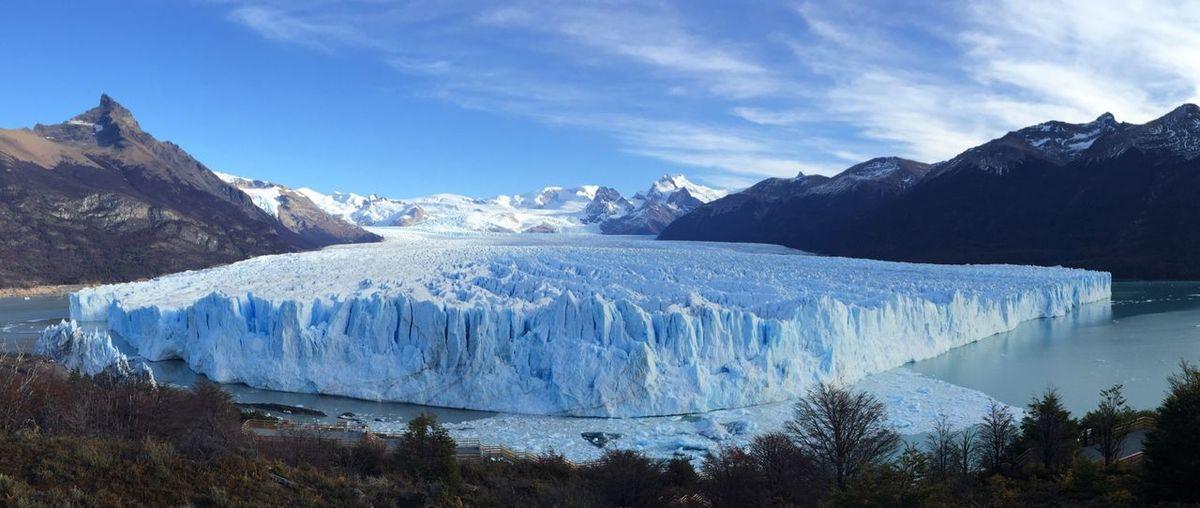 Scenic View Of Perito Moreno Glacier And Mountains Against Sky