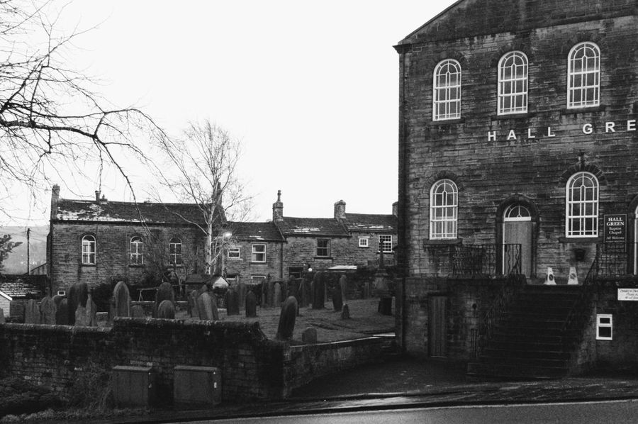 Text Day Building Exterior Sky Outdoors City No People Architecture Architecture Eye4photography  Yorkshire EyeEm Best Shots December Landscape Townscapes Black & White Black And White Monochrome Buildings Tranquil Scene Haworth Traveling Home For The Holidays