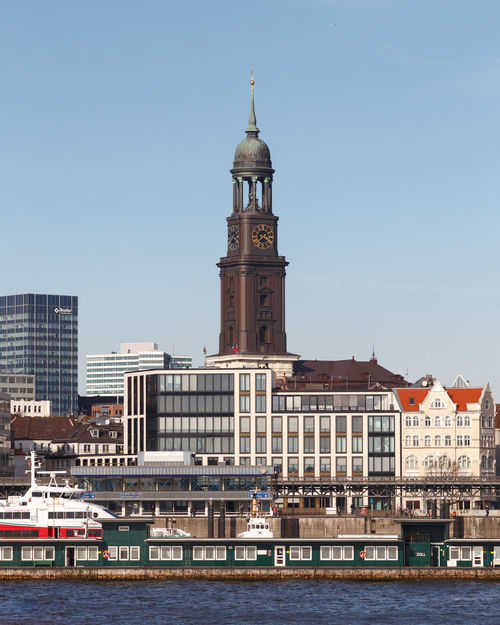 Michel. Architecture City Cityscape Clock Tower Elbe Germany Hamburg Harbor Hh Landungsbrücken  Michel Pauli Port River St. Pauli Tower Water Waterfront