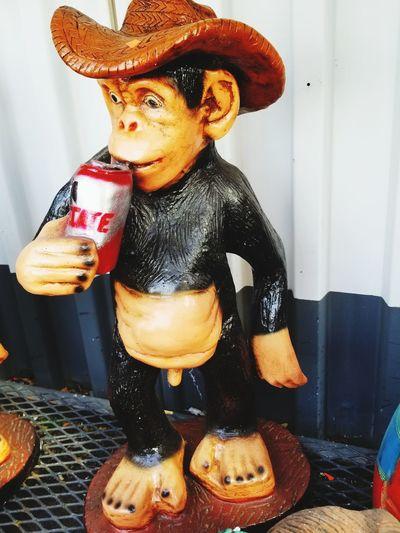 monkey statue Yard Decorations Monkey Drinking EyeEm Selects