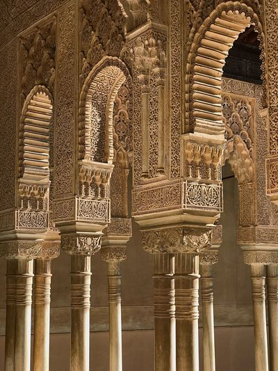 EyeEm Selects History Architecture Carving - Craft Product Travel Destinations Architectural Column Built Structure Bas Relief Religion Ancient Place Of Worship Tourism Day Spirituality No People Building Exterior Ancient Civilization Outdoors Alhambra De Granada  Alhambra Granada