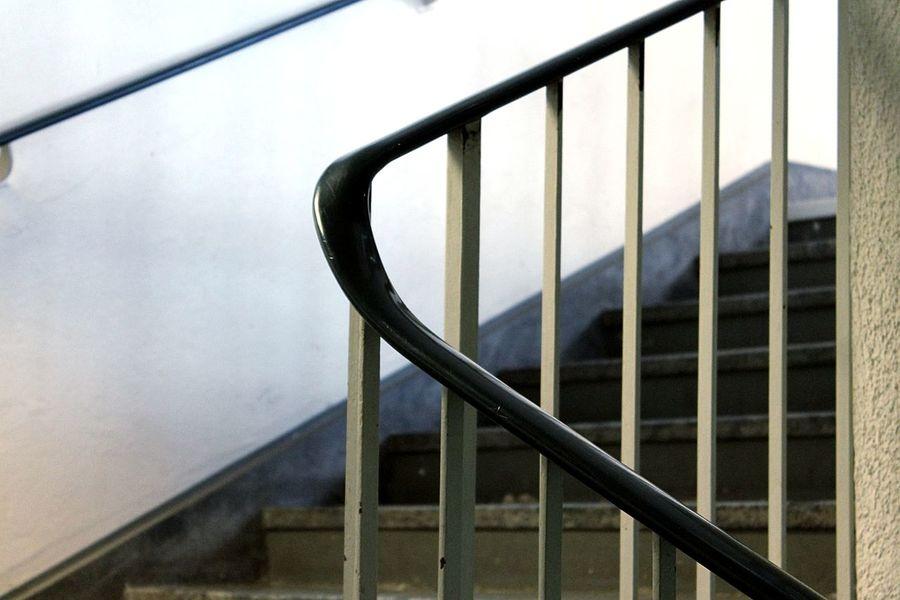 Just Around The Corner Walking Around Stairs Corner Handrail  Throw A Curve Street Photography Architecture Details Stairways