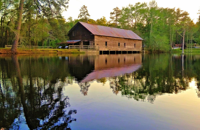 George L. Smith State Park, Georgia Georgia Reflection Twin CIty, Georgia Architecture Covered Bridge Lake Mill Pond No People Reflection Scenics Tranquil Scene Tranquility