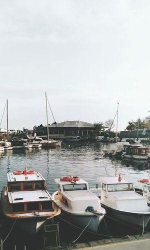 Water Nautical Vessel No People Day Outdoors Sky Moored Harbor Marina Boat Boats⛵️ Sea Seaside Deniz Ataköy Marina Atakoy Tekneler Tekne Yatch Yat First Eyeem Photo