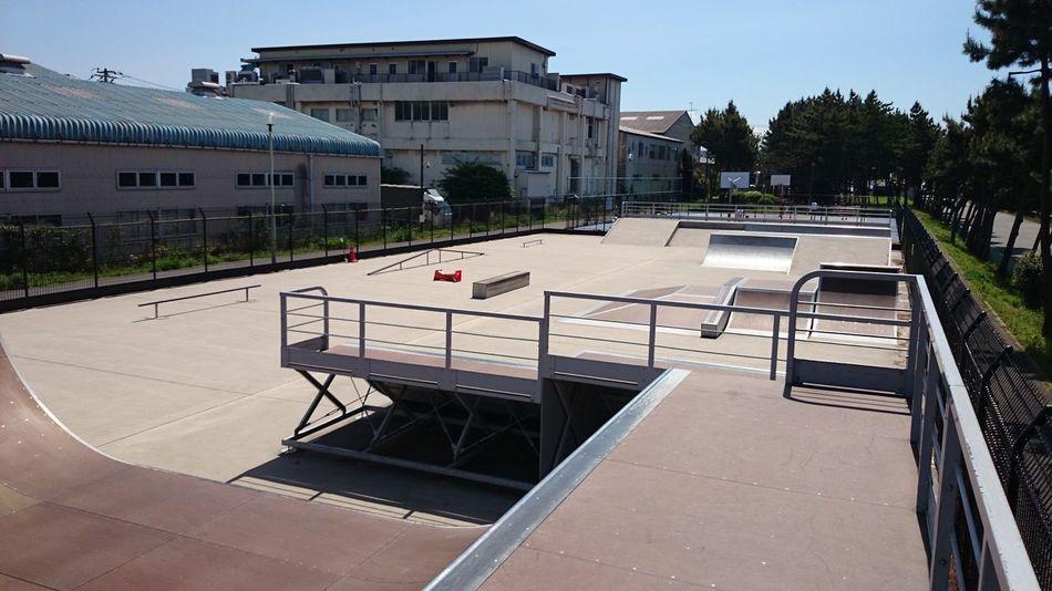 Siohama Skatepark. Japan Tiba Ichikawa Skateboard Agressive Inline BMX ❤ Architecture Japan Photography Japanese Culture 市川