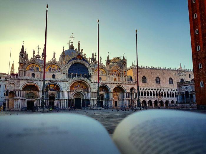 Architecture Travel Destinations No People Outdoors Sky Morning Sunlight Scenics Moments Book Bookphotography Cityscape Enjoying The View Street Venice View Perspective City Life Venice Italy Religion Sky_collection Building Exterior Beautiful Art Dodge's Palace Your Ticket To Europe