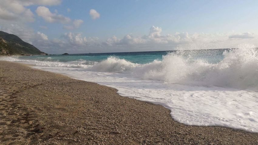 Nofilter Lefkada, Greece Kathisma Beach, Waves In The Sand Waves, Ocean, Nature Sand Greece View Nature_collection Landscape_Collection Sea_collection Lightblue Blue Wave Blue And White Beachphotography May 2016 1st May Nature_perfection Greekway Greecestagram Greecelover_gr Greece Landscapes Lefkada Island Greek Islands Greekislands