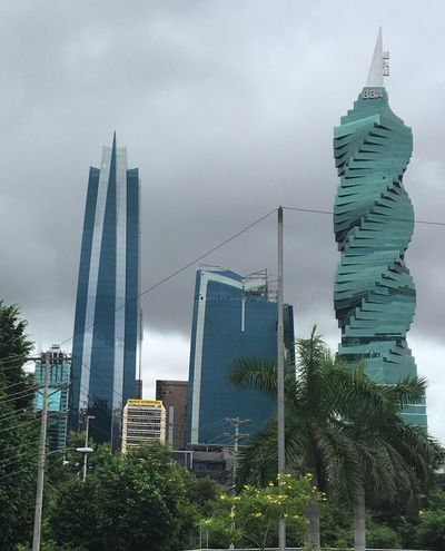 Panamá Architecture Building Exterior Built Structure Skyscraper Sky City Tree Cloud - Sky Low Angle View No People Outdoors Growth Tower Modern Day Cityscape