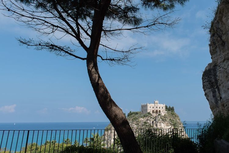A view of Santa Maria dell isola Tropea Tree Plant Sky Nature Architecture Built Structure Building Exterior