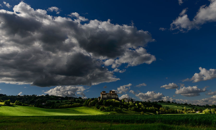 Blu Sky Countryside Green Grass 🌱 Hillside Landscape Nature No People, Outdoor Scenic Sky And Clouds Tranquil Scene