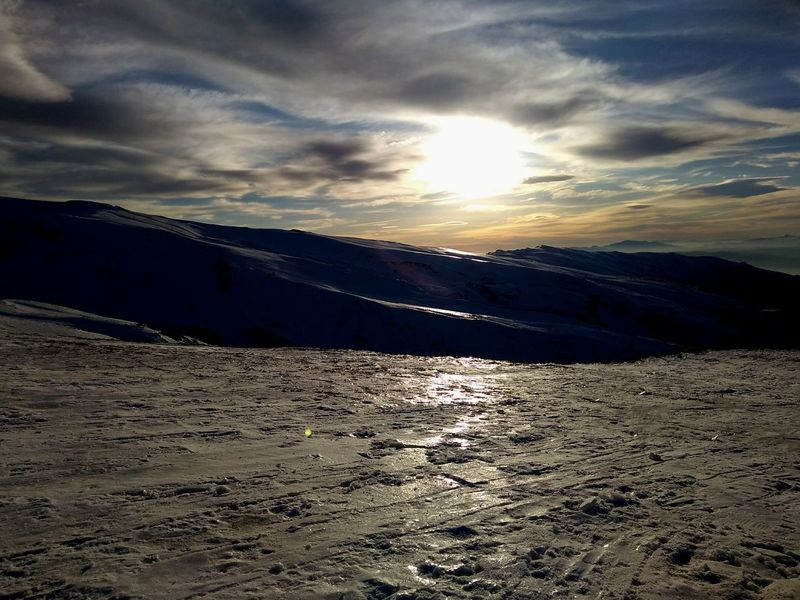 Sunny Granada SPAIN Nature Photography Nature_collection World Mountain Blue Blue Sky Cold Wintertime Cityscape Landscape Nature Cloud - Sky Scenics Dramatic Sky Cold Temperature Beauty In Nature Outdoors Ice Tranquility Frozen Winter Snow Lake No People Sky Day Water Sunset