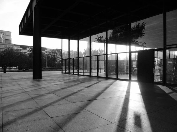 Neue Nationalgalerie Berlin Germany Mies Van Der Rohe Modern Architecture Architecture Built Structure Shadow Sunlight No People Architectural Column Building Exterior Architecture Photography Architectureporn Architecture_bw Architecturelovers Architecture_collection Blackandwhite Photography Black And White Blackandwhite Architecture Berliner Ansichten Berlin Photography EyeEm Best Shots Eye4photography