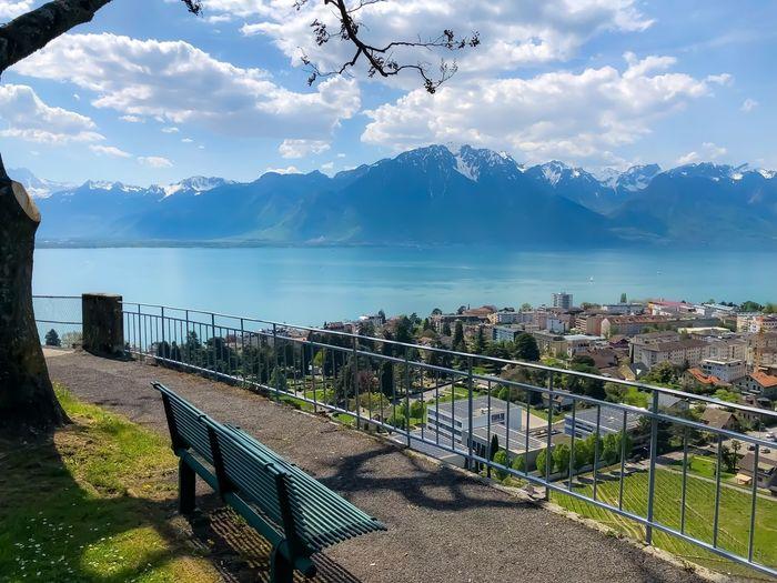 Suisse  Clarens Water Sky Architecture Built Structure Nature Building Exterior Mountain