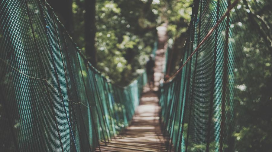 Close-up of footbridge